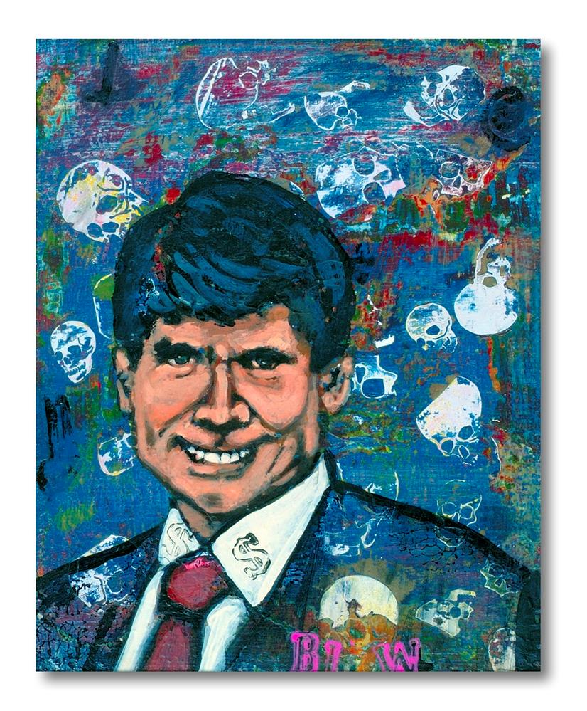"""Blogojevich"" original fine art by Matthew Hilbish"