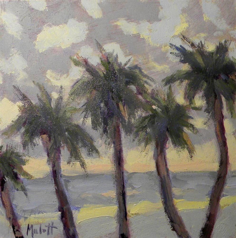 """Palms at Dawn"" original fine art by Heidi Malott"