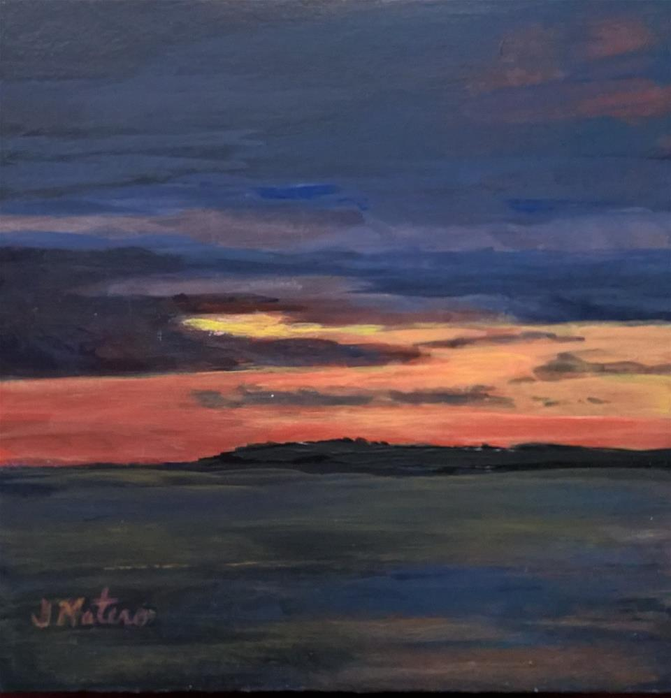 """Sunset"" original fine art by Joan Matero"