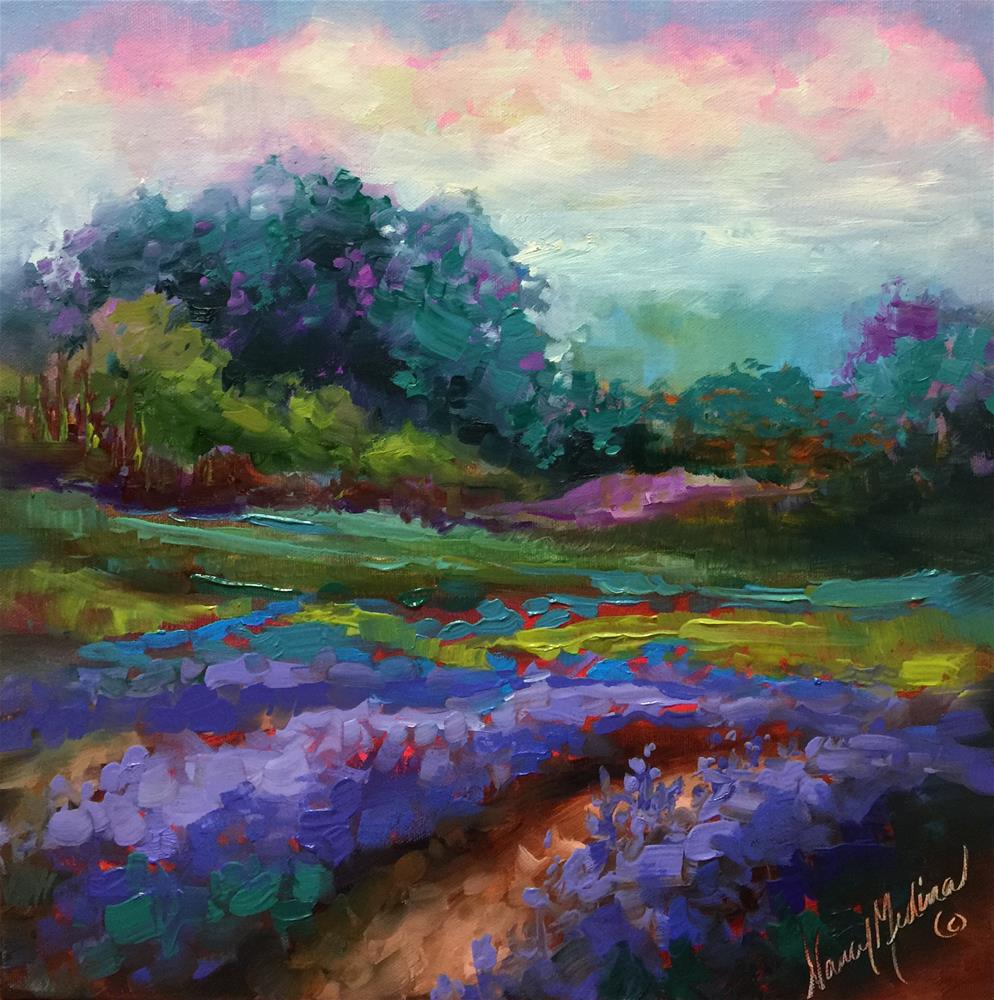 """Lavender at First Sight - Nancy Medina Art Videos and Classes"" original fine art by Nancy Medina"