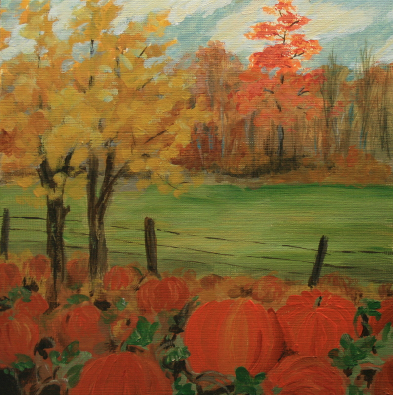 """October"" original fine art by Jean Nelson"