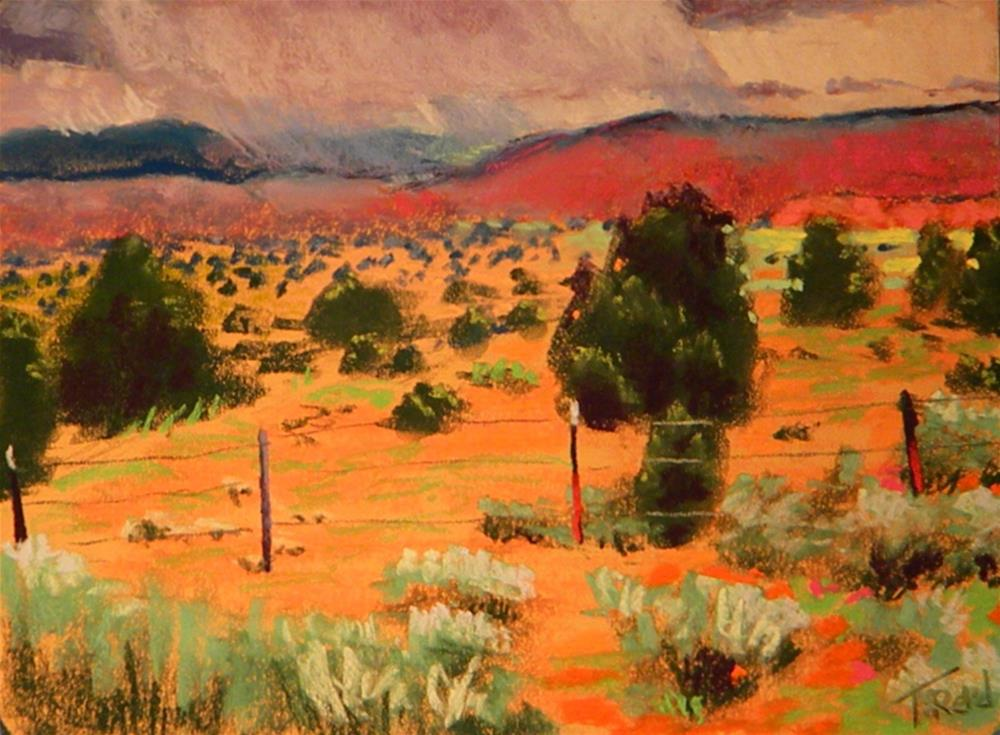 """Painted dessert"" original fine art by Toby Reid"
