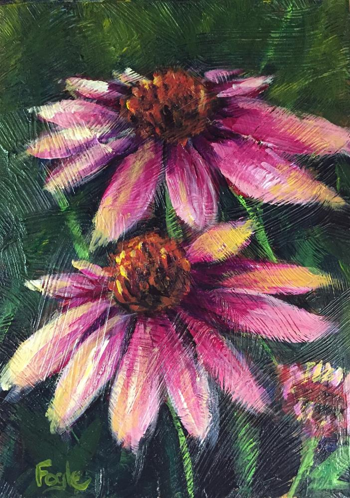 """15-21 Coneflowers"" original fine art by Rachel Fogle"