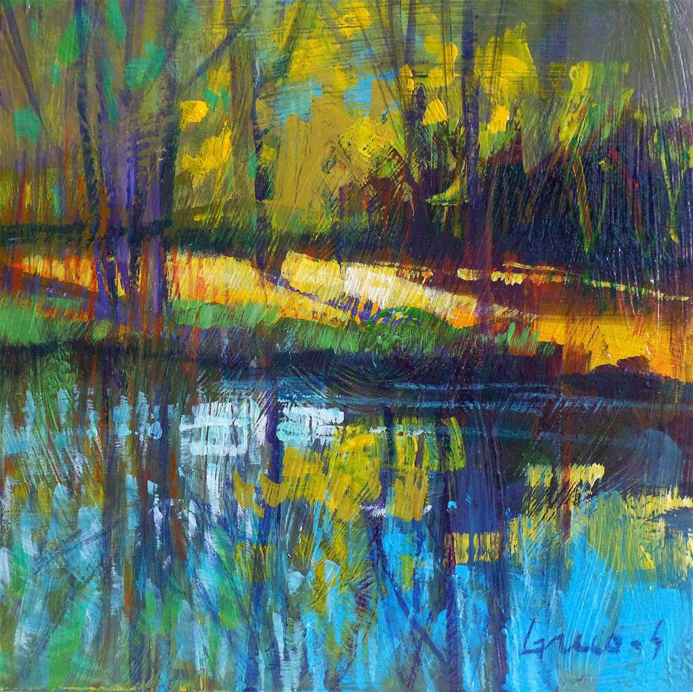 """Reflectios in the water"" original fine art by salvatore greco"