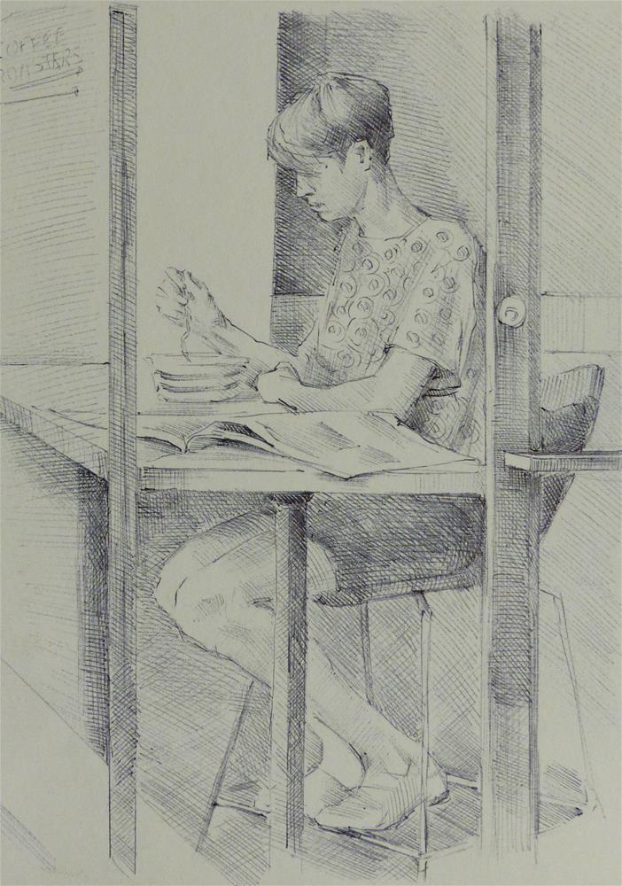 """500Faces-143"" original fine art by Katya Minkina"
