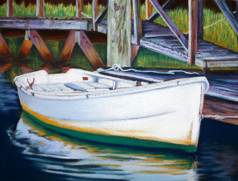 """Wood & Water"" original fine art by Jill Bates"