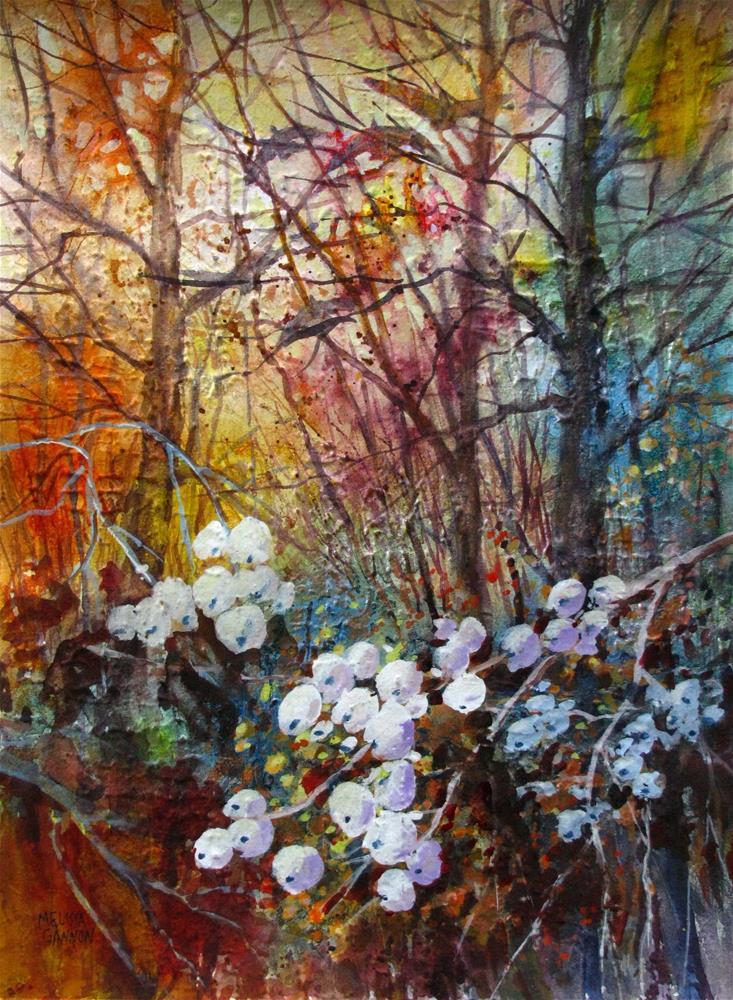 """Season of the Snowberry"" original fine art by Melissa Gannon"