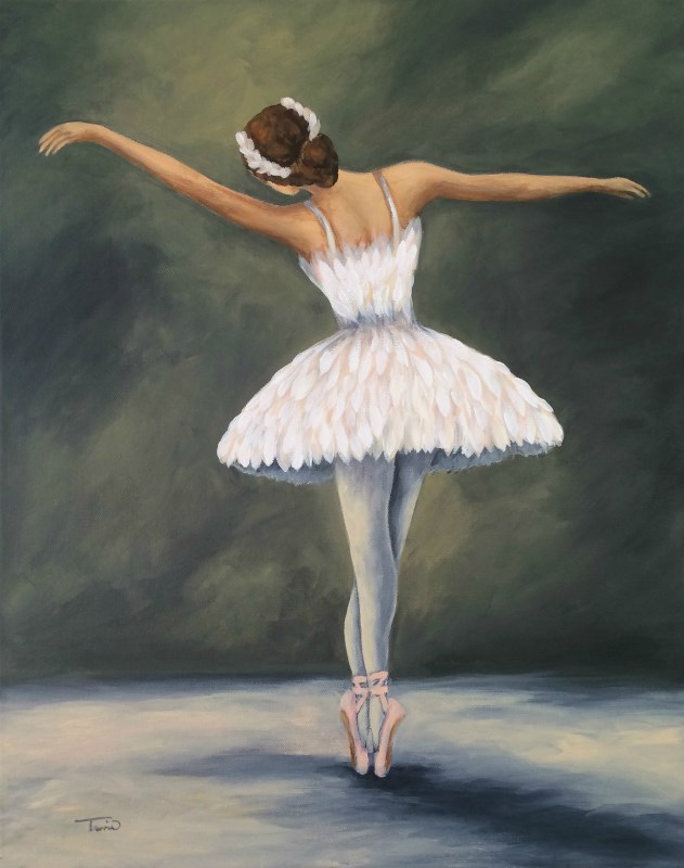 """The Ballerina V"" original fine art by Torrie Smiley"