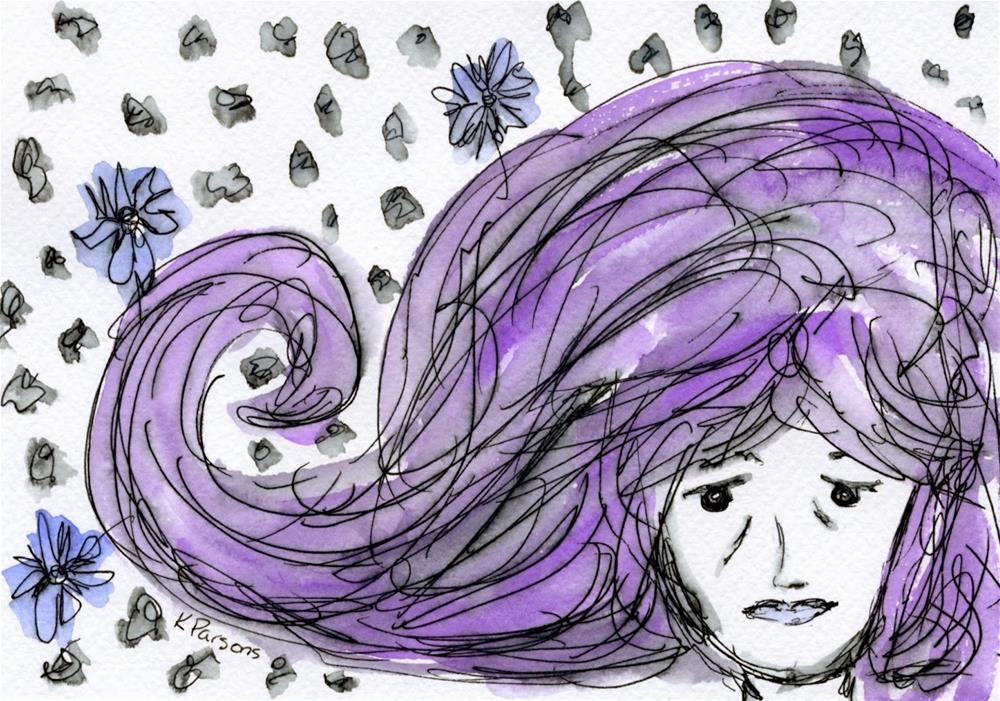 """Sadness"" original fine art by Kali Parsons"