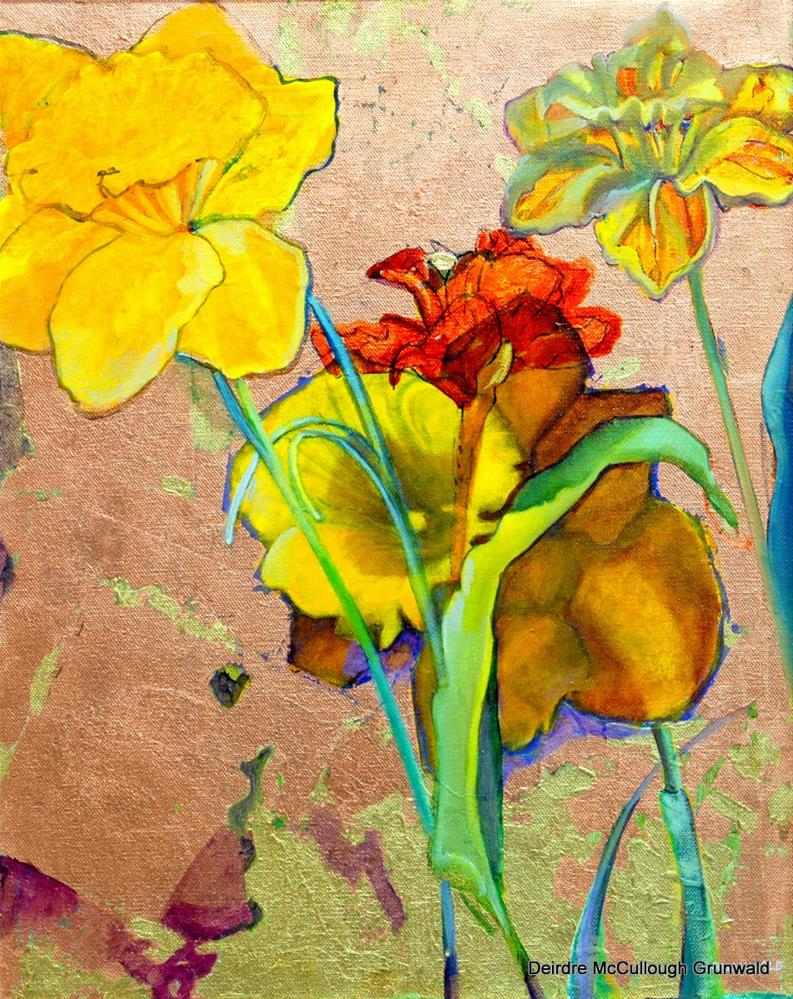 """Daffodil Icon"" original fine art by Deirdre McCullough Grunwald"