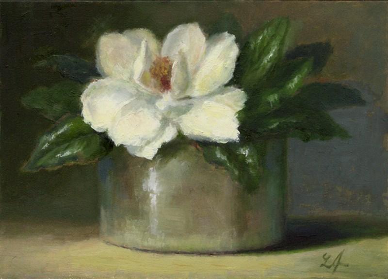 """""""Magnolia"""" original fine art by Linda Jacobus"""