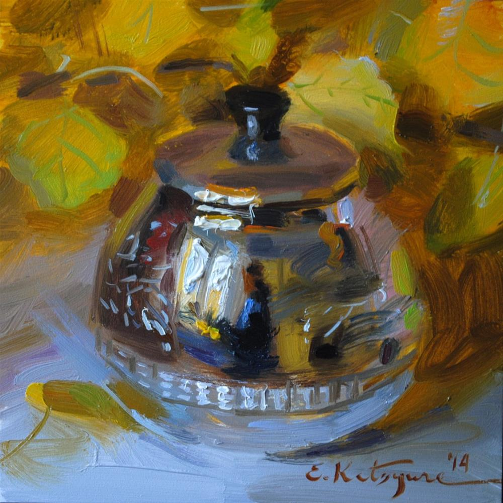 """September Silver"" original fine art by Elena Katsyura"