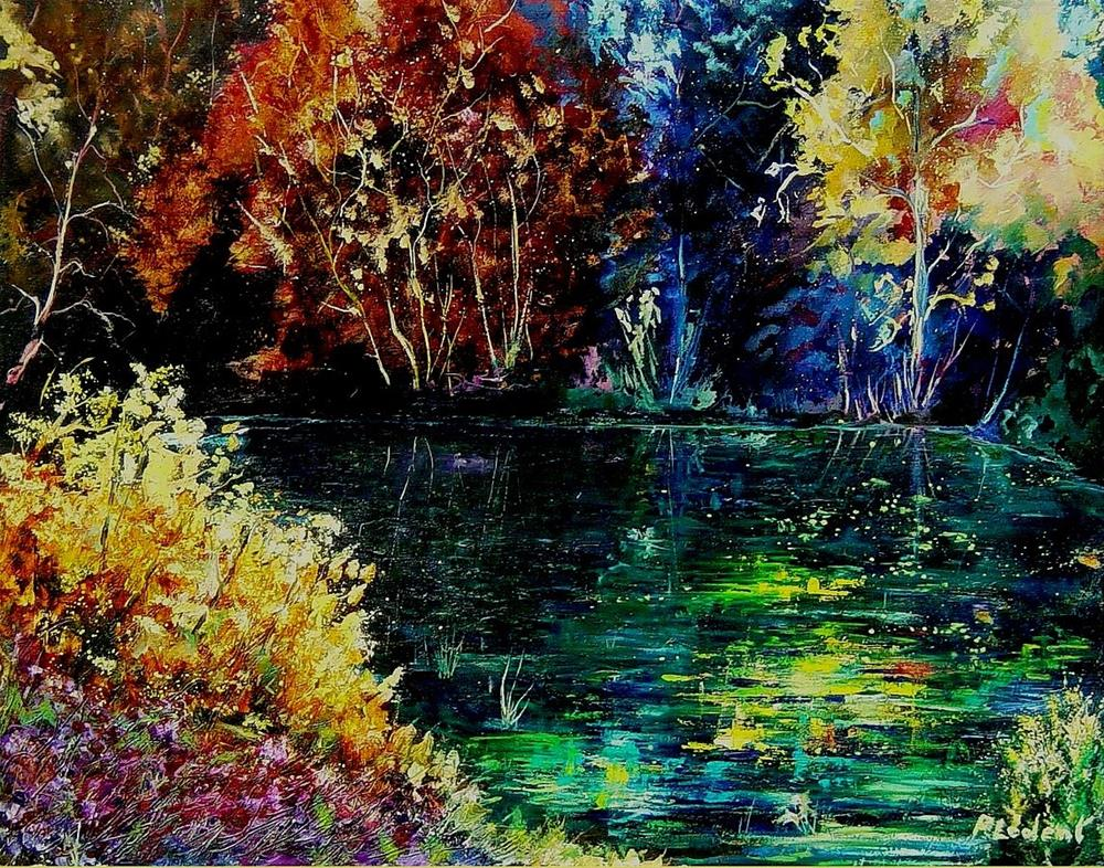 """Pond 3"" original fine art by Pol Ledent"