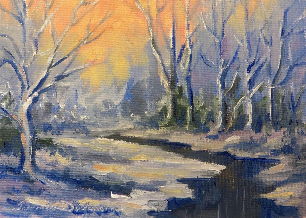 """Winter Light"" original fine art by Tammie Dickerson"