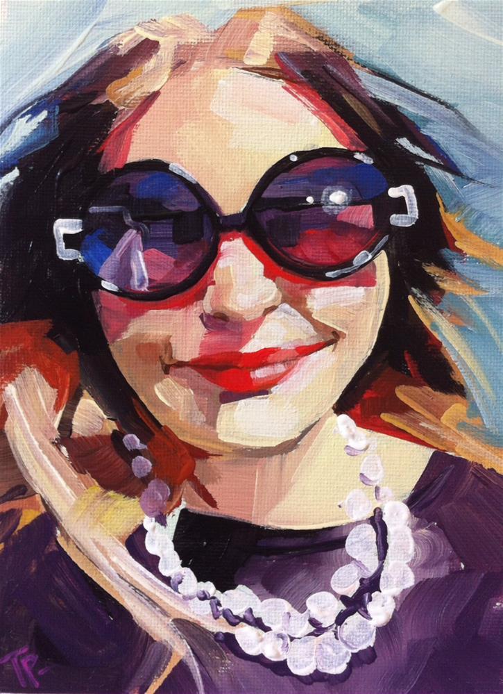 """Jamie Selfie"" original fine art by Teddi Parker"