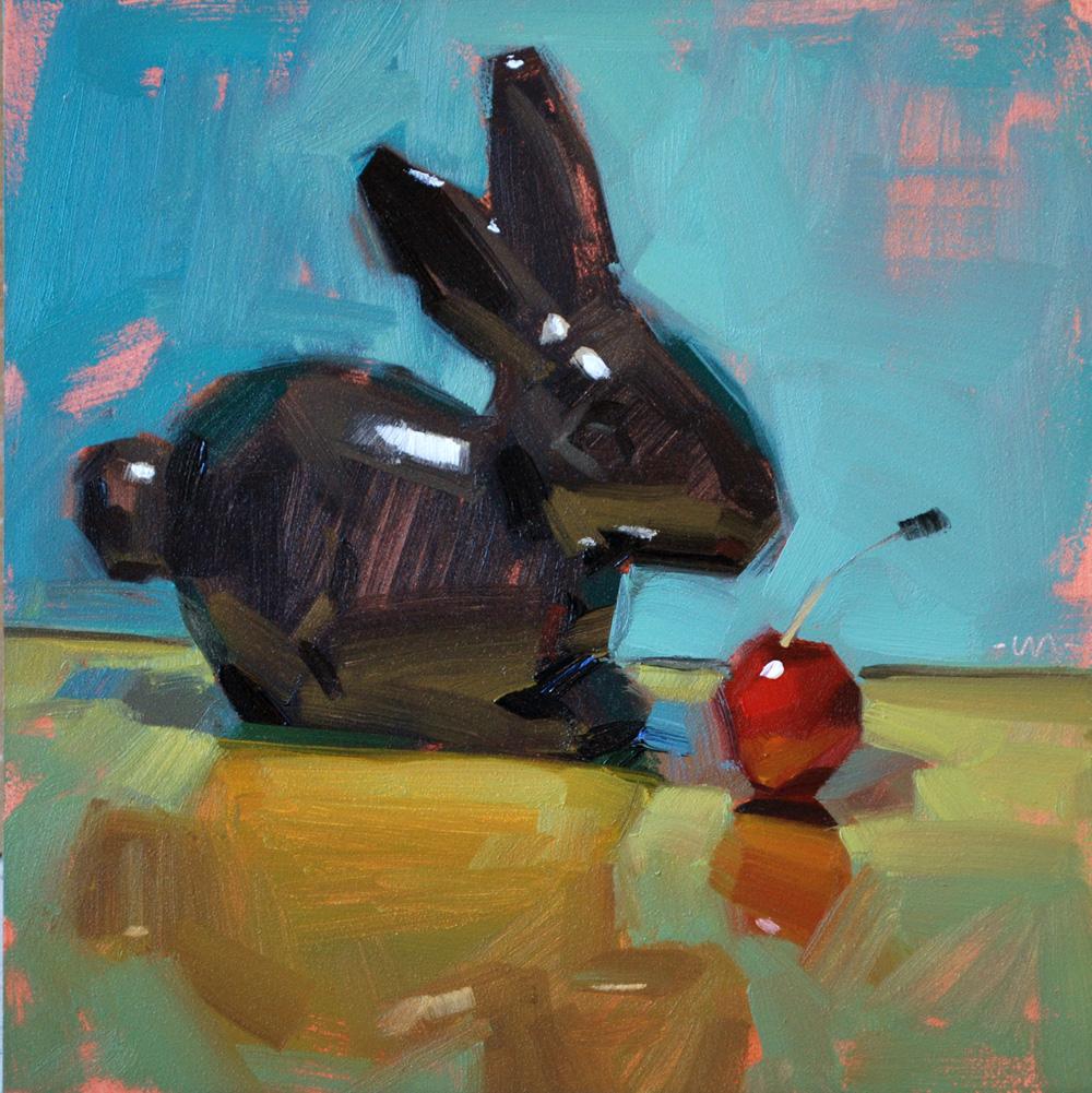 """Curious About a Cherry"" original fine art by Carol Marine"