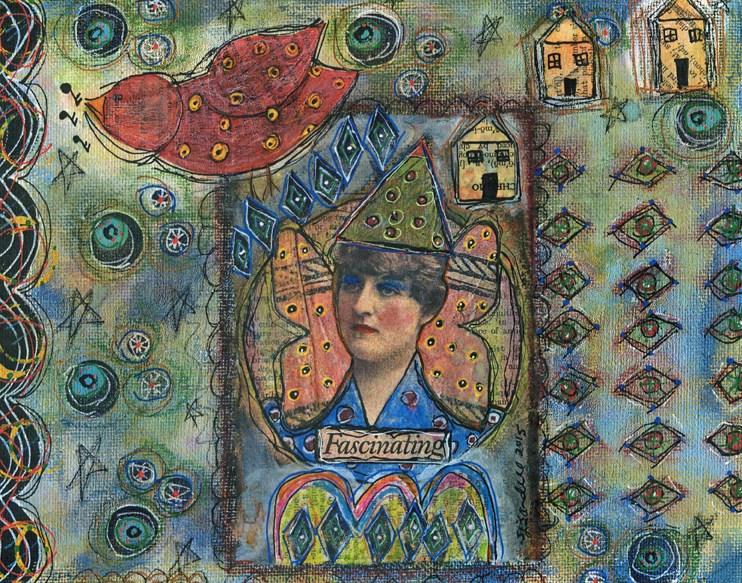 """Fascinating"" original fine art by Sonja Sandell"