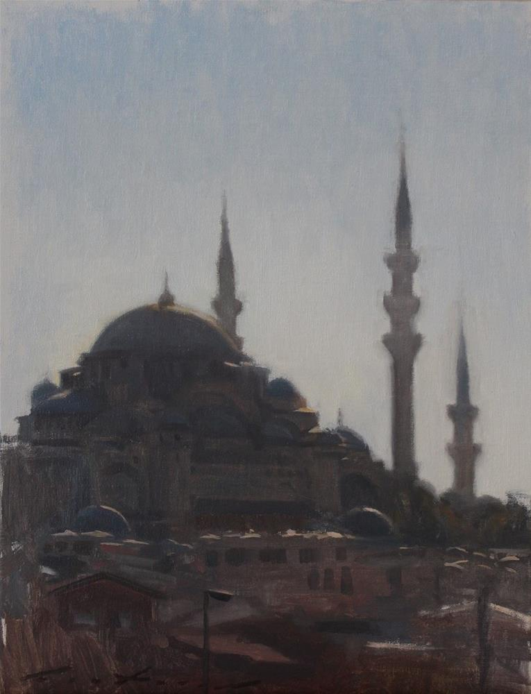 """Süleymaniye Mosque at Sunset"" original fine art by Phil Couture"