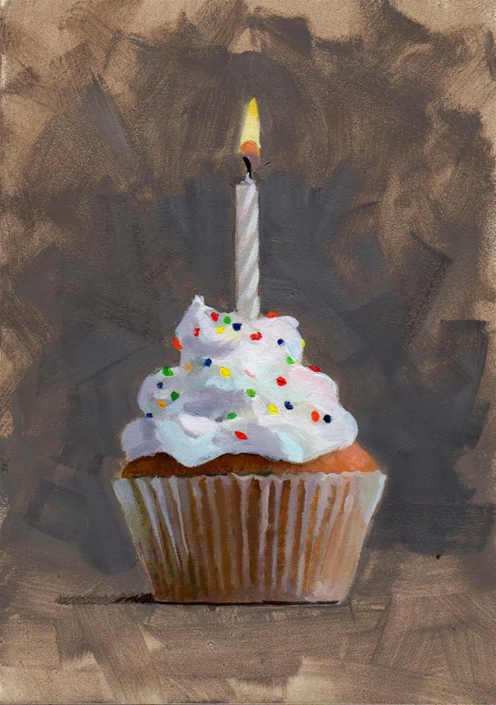 """Tasty Good #3 The Birthday Candle"" original fine art by Brian Burt"