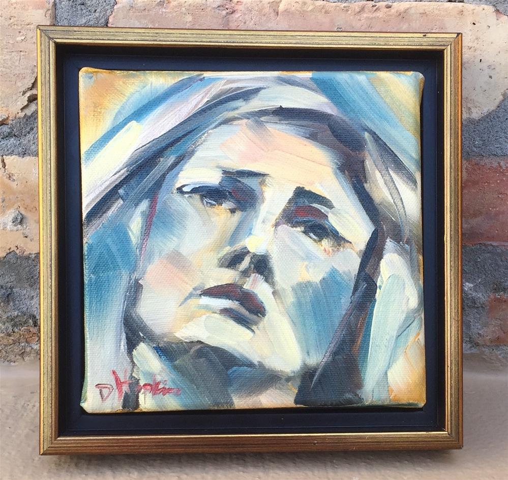 """Sorrow, Framed"" original fine art by Denise Hopkins"