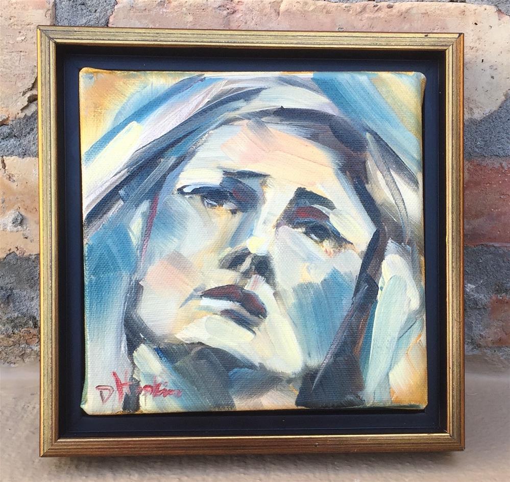 """Sorrow, Framed"" original fine art by Denise Hopkins"