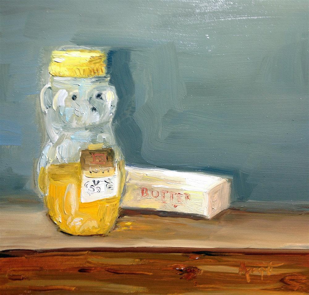 """""""Honey Butter"""" original fine art by Anne Marie Propst"""