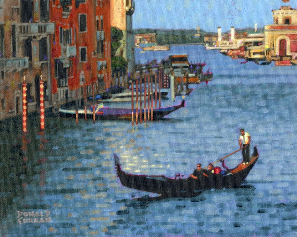 """Beautiful Venice"" original fine art by Donald Curran"