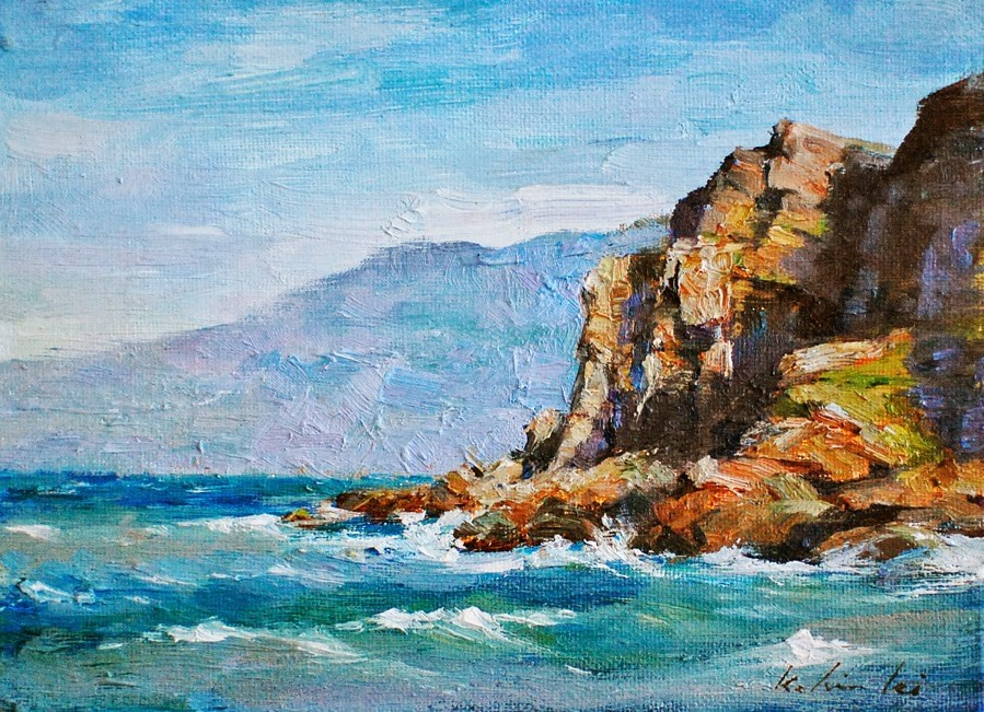 """Coast Near Big Sur"" original fine art by Kelvin Lei"