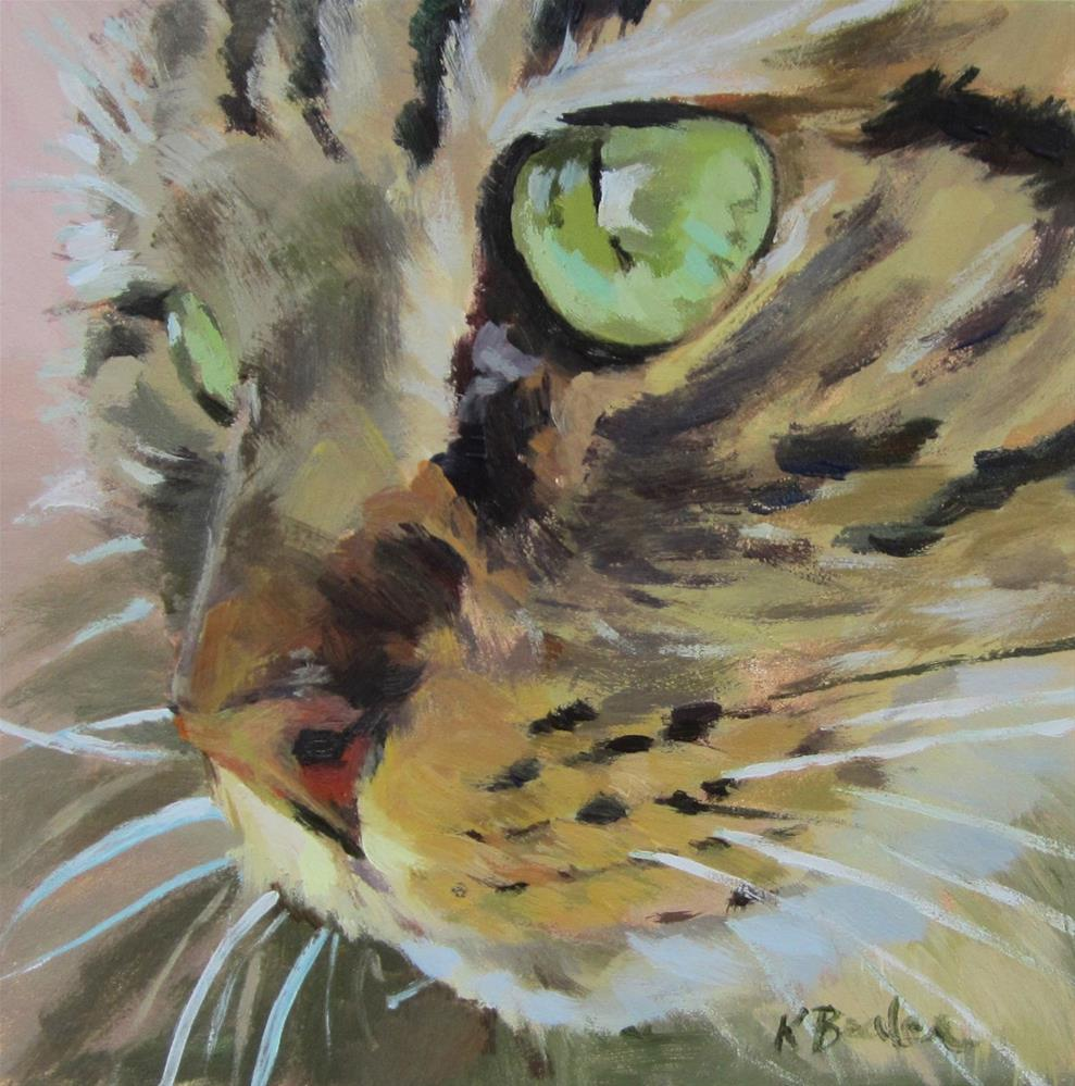 """Green Eyes"" original fine art by Kaethe Bealer"