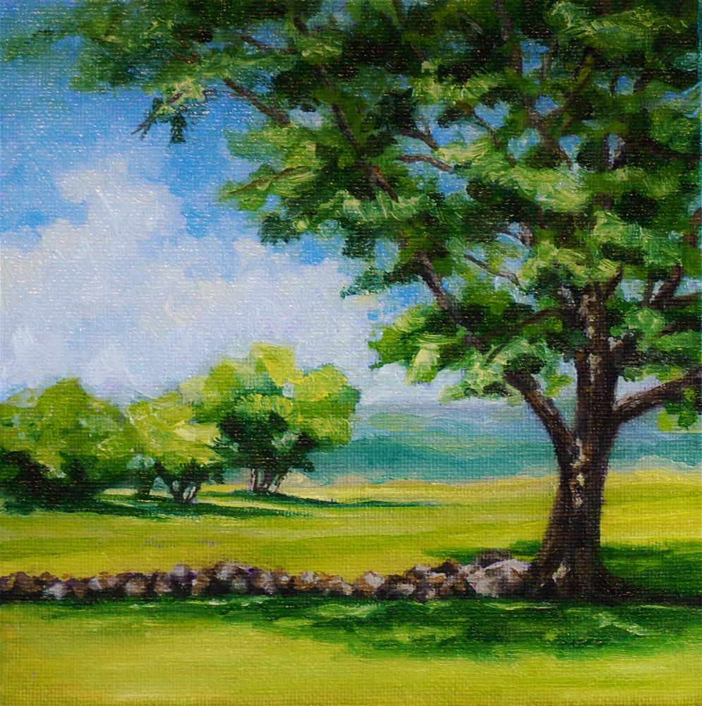 """Beyond The Stone Wall"" original fine art by Maria Levandowski"