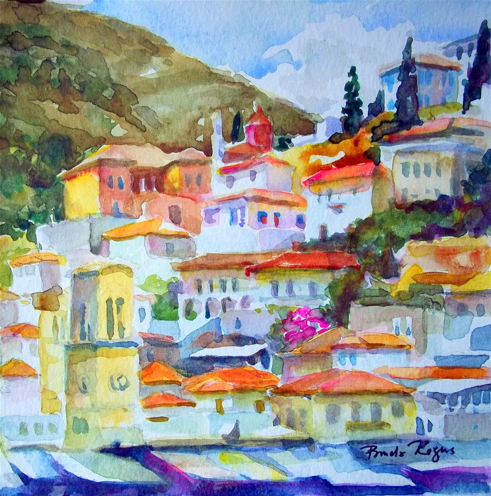"""Hydra Villas"" original fine art by Pamela Jane Rogers"