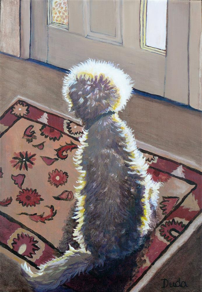 """Is that Dadda coming home?"" original fine art by Susan Duda"