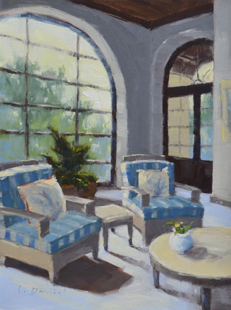 """Beachside Solarium - Anderson Gallery Exhibit"" original fine art by Laurel Daniel"