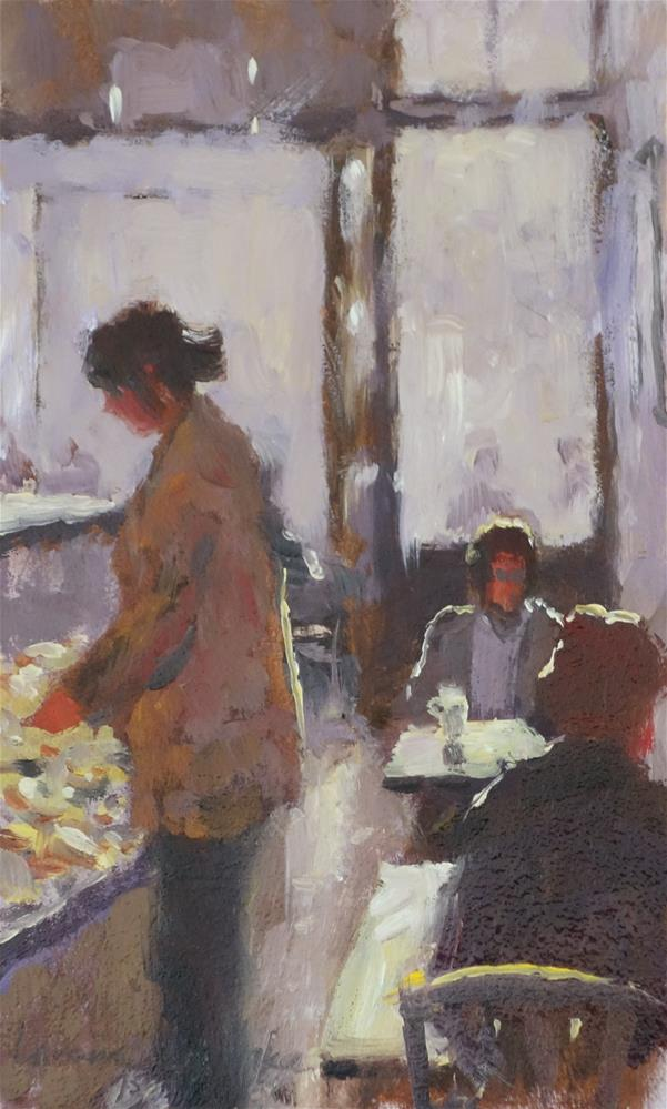 """Breakfast Crowd"" original fine art by Lorraine Lewitzka"