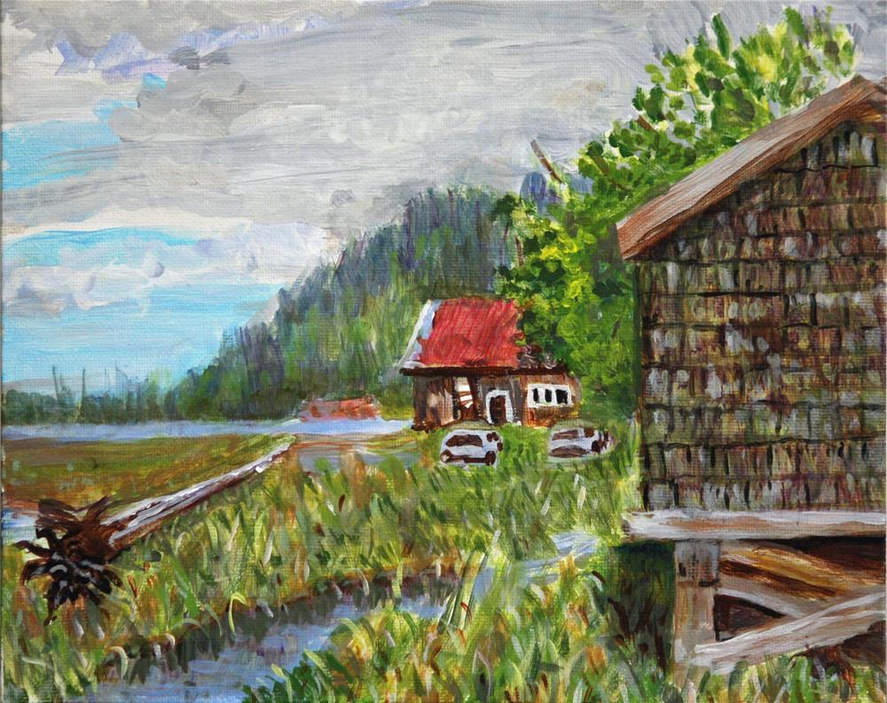 """South of Port Edward - Plein Air"" original fine art by Terri-Anne Barge"