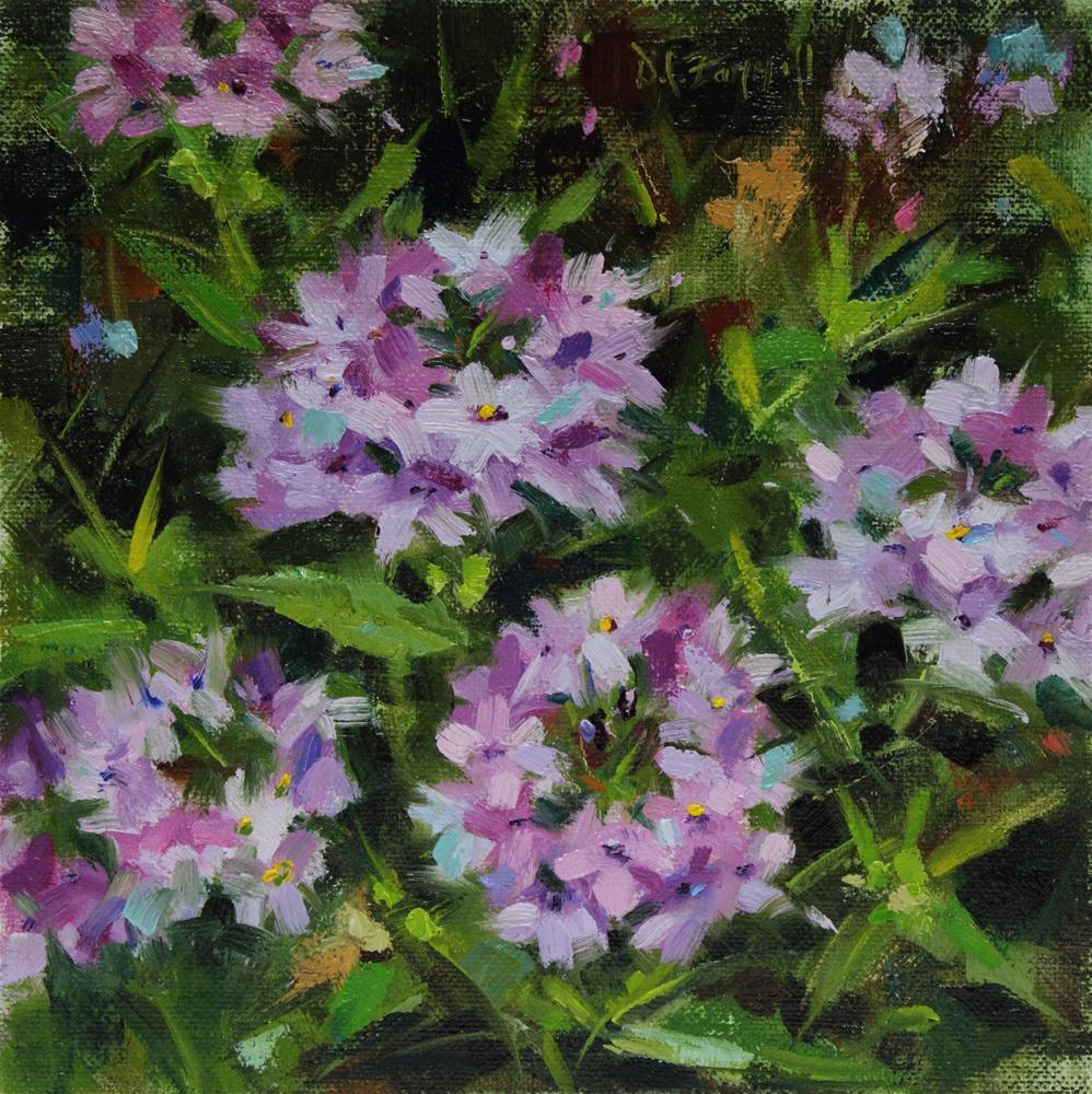 """In Mom's Garden #4"" original fine art by Donna C Farrell"