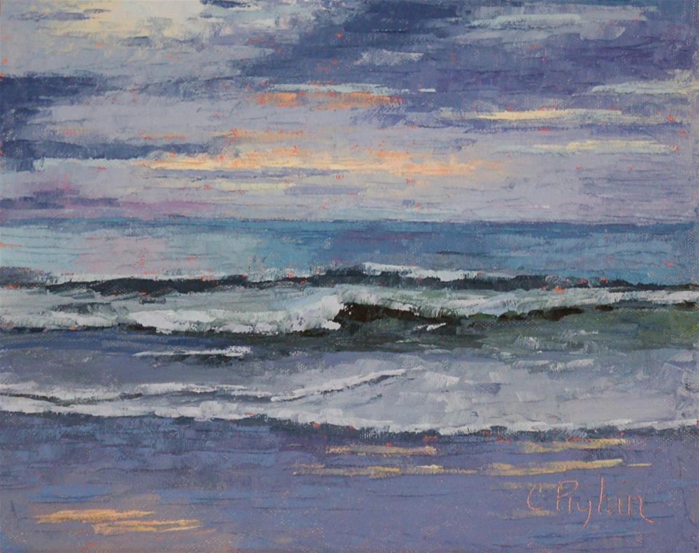 """Evening Waves"" original fine art by Carol Pighin"