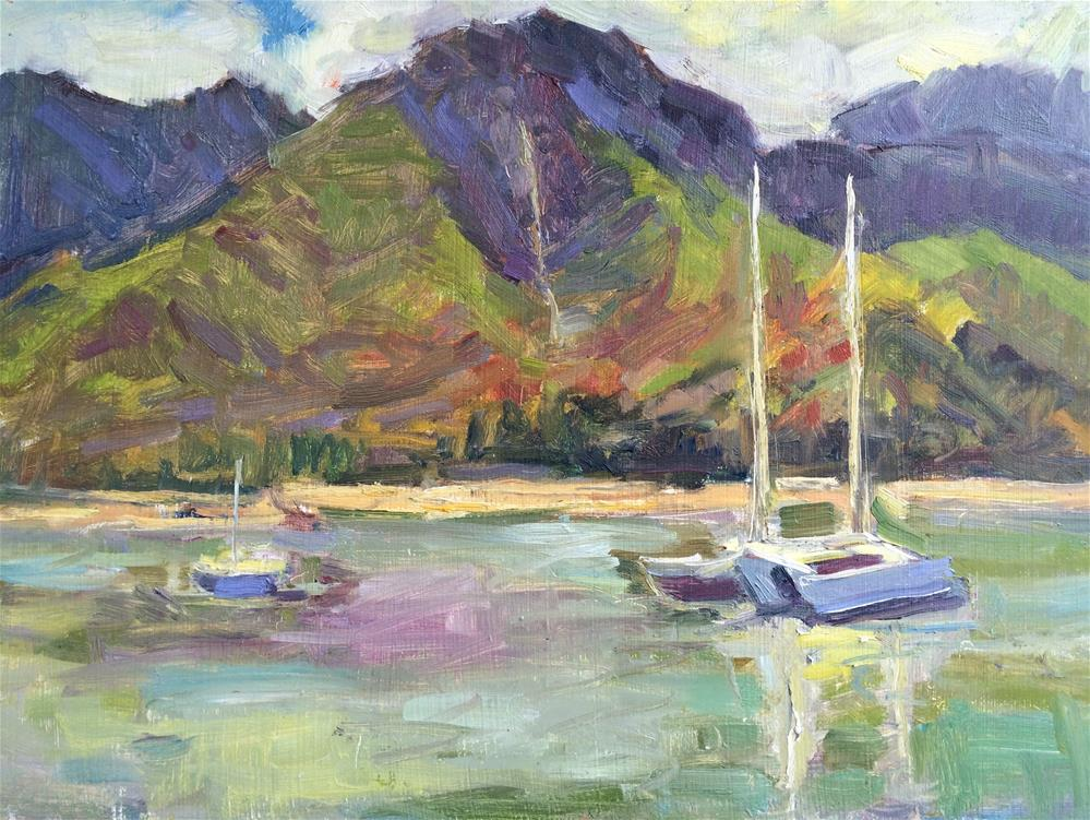 """Sunny Day in Hanalei"" original fine art by Yvonne Manipon"