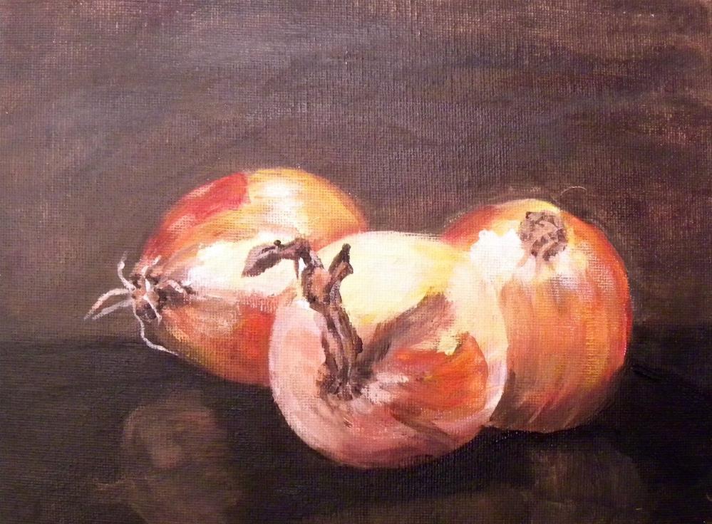 """Yellow Onions"" original fine art by cheryl buhrman"