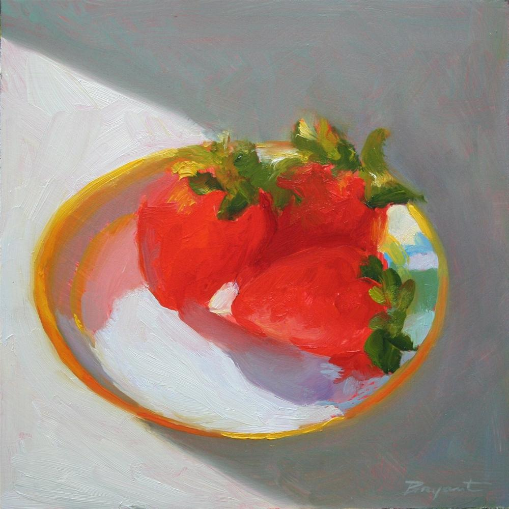 """Berry Glow"" original fine art by Debra Bryant"