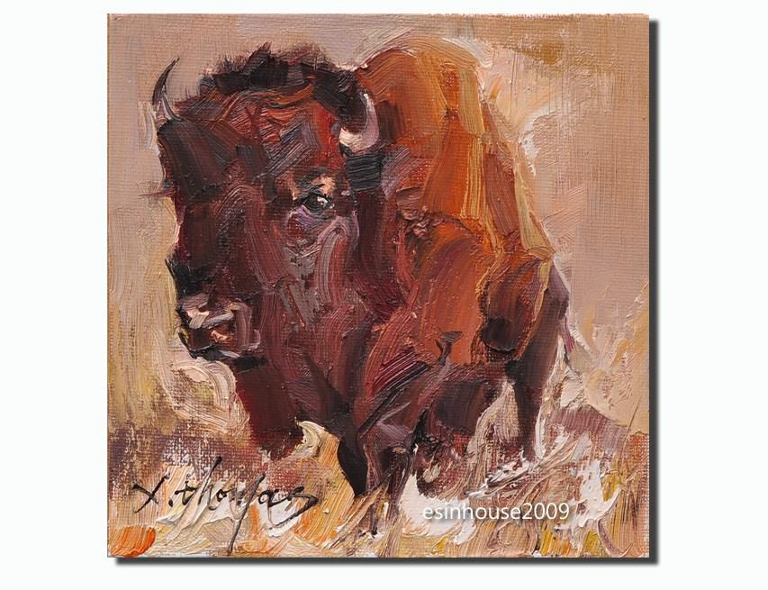 """American bison"" original fine art by Thomas Xie"
