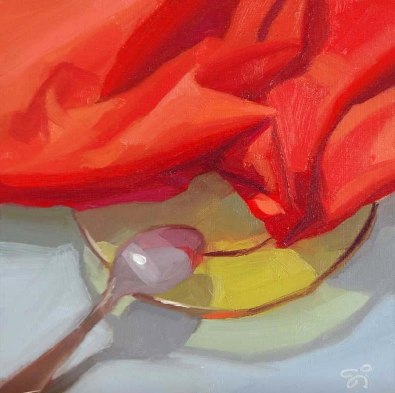 """Yellow plate"" original fine art by Istvan Schaller"