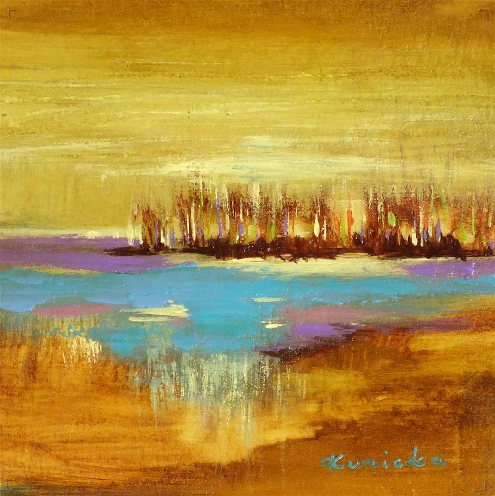 """Landscape 139"" original fine art by Ewa Kunicka"