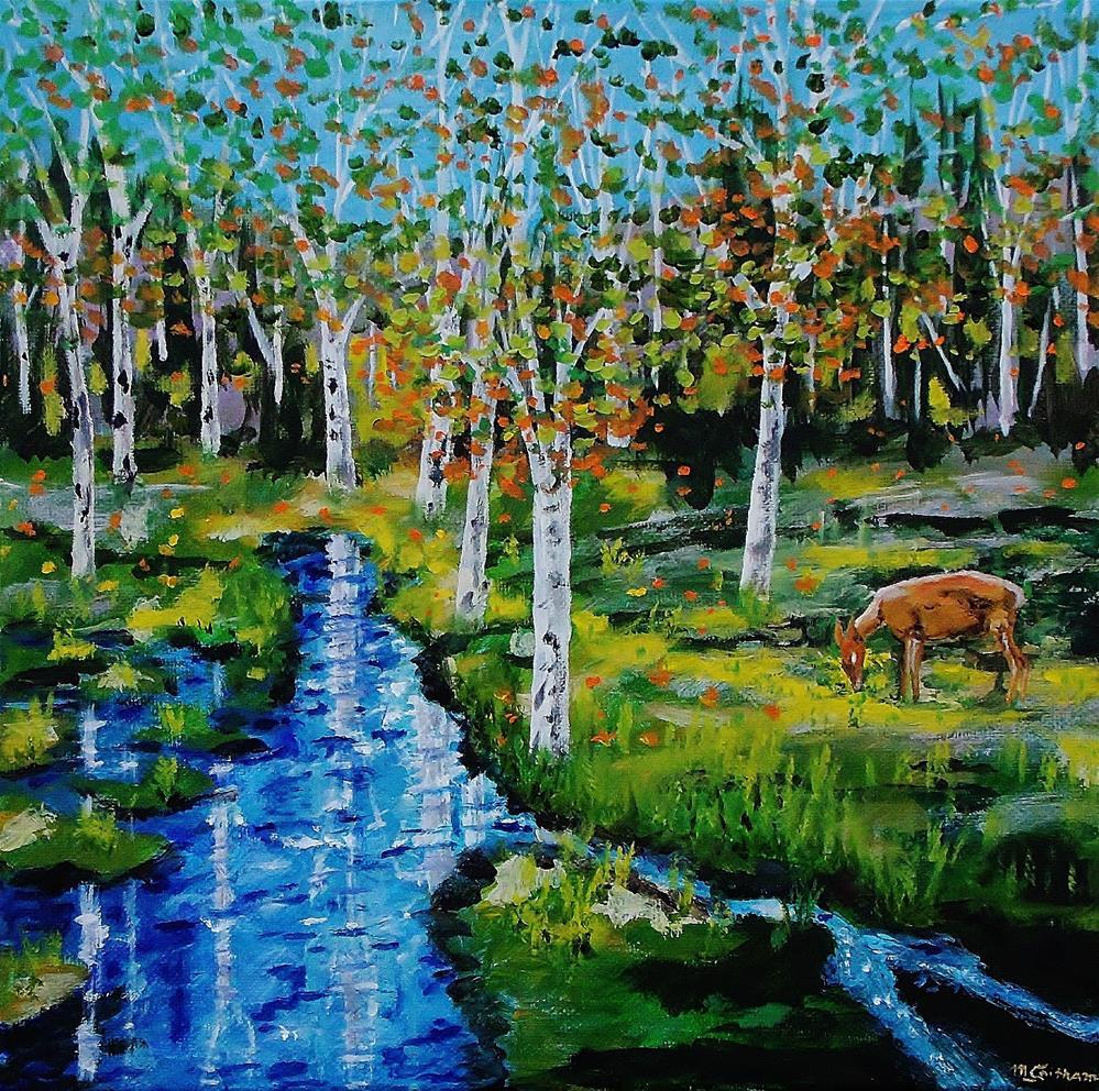 """Lone Deer"" original fine art by Mike Caitham"