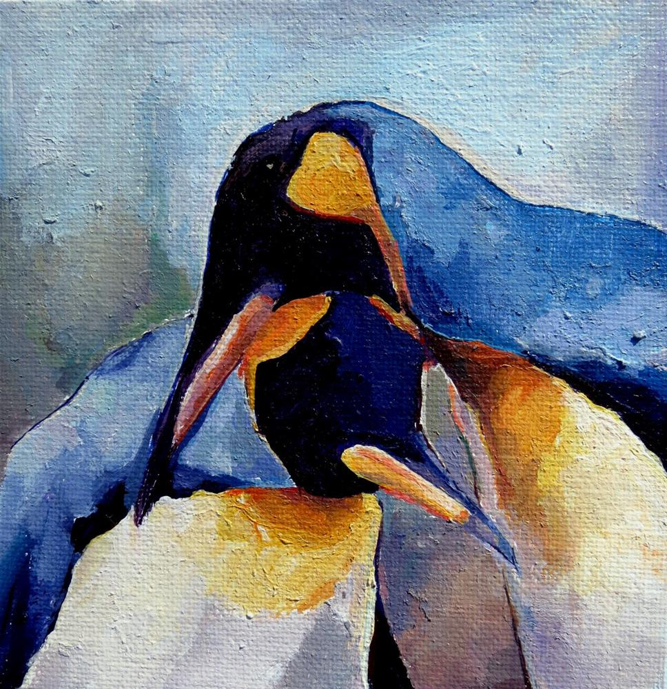 """Penguin Pair"" original fine art by Nava Judith"