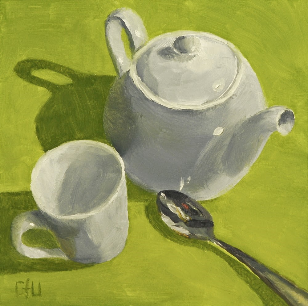 """Teapot Cup and Spoon"" original fine art by Gary Westlake"