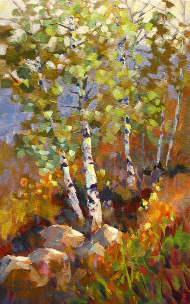 """""""Whispering Leaves"""" original fine art by Melissa Gannon"""