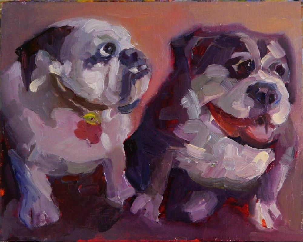 """Who Let the Dogs Out?"" original fine art by Maryanne Jacobsen"