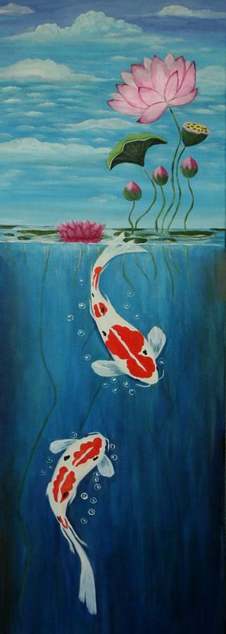 """Lotus Garden by Sunny Willliams"" original fine art by Sunny Williams"