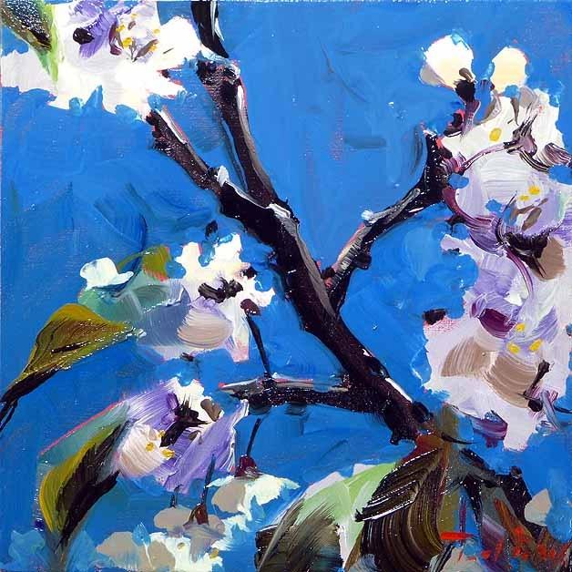 """Cherry Blossom"" original fine art by Jurij Frey"